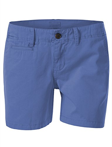 7Encounter Womens Mid Rise Casual Cotton Chino Shorts