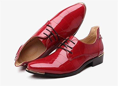 Gran 37 Red Los Xie Hombres Marea Cuero 47 De Moda Zapatos Tamaño qHnnPXF