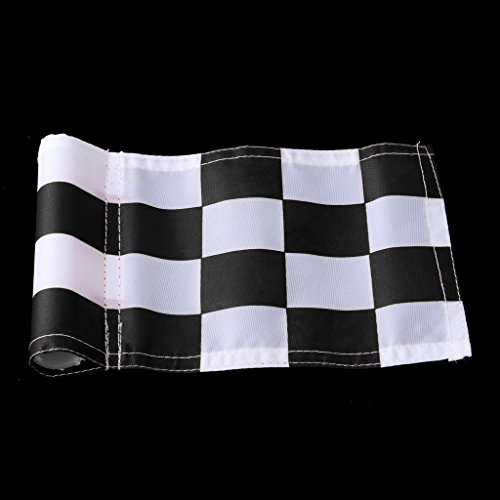 MagiDeal 4pcs 18x12cm Golf Practicing Training Flag Nylon Putting Green Solid Chequered Flags by Unknown (Image #9)