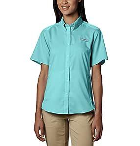 Columbia Sportswear Women's Plus-Size Tamiami II Short Sleeve Shirt, Clear Blue, 1X
