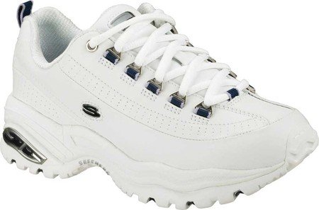 Sneaker Premium Da Donna Sportiva Da Skechers In Tessuto Bianco / Navy