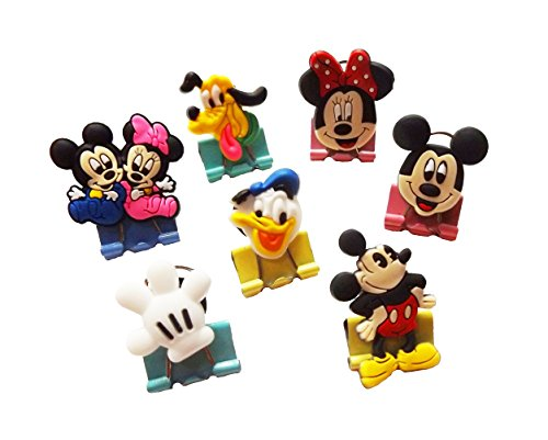 Nip Disney Mickey Mouse (AVIRGO Binder Clips Paperclips Colorful 7 pcs Set # 71-15)