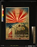 Vintography 16 x 24 WWI Image of The Harriman National Bank urges Faith, Courage, and Patience 1918 0 22a