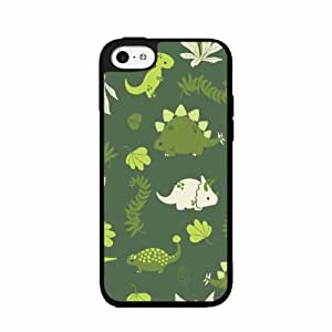 Animals Dinosaurs - Phone Case Back Cover (iPhone 5c - TPU Rubber Silicone) includes diy case Cloth and Warranty Label