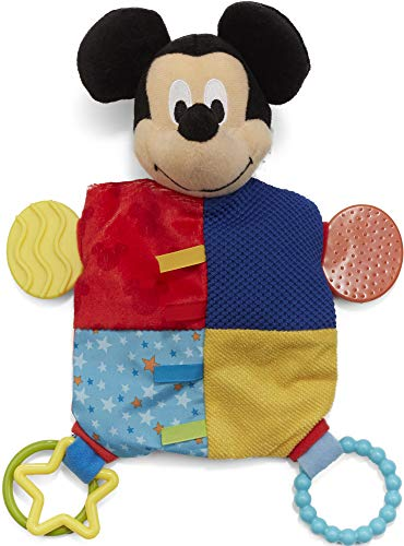 Baby Mickey Mouse (Disney Baby Mickey Mouse Plush Teether Blanket,)