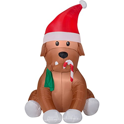 Bulldog Christmas (English Bulldog Inflateable Holiday Air Blown Outdoor Christmas Decor (I-11))