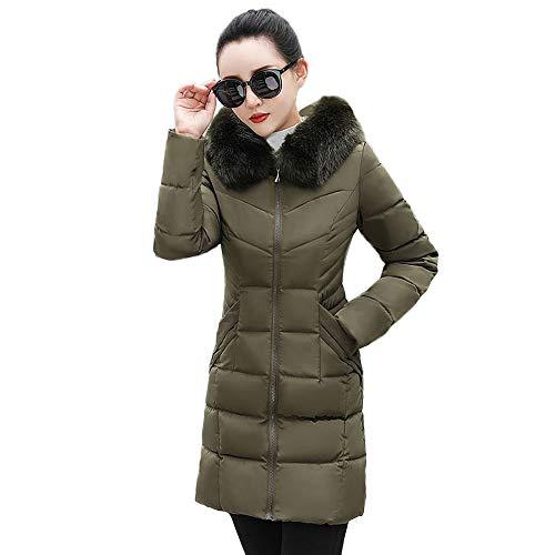Down Cappotti Army Size Capispalla Per Giacche Slim ~ Corta Jacket Donna Solid Capispalla Green Inverno Caldo Plus 3xl Donna S Casual 2 Moda Burfly Puffer Fit Cappotto TqSCwt
