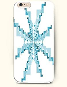 Teal And Pale Turquoise Snowflake Shape - Geometric Pattern - Phone Cover for Apple iPhone 6 Plus ( 5.5 inches...