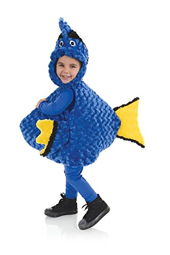 Toddler Girl Fish Costume (Underwraps Kid's Underwraps Baby's Big Mouth Fish Belly-Babies, X-Large … Childrens Costume, blue, X-Large)