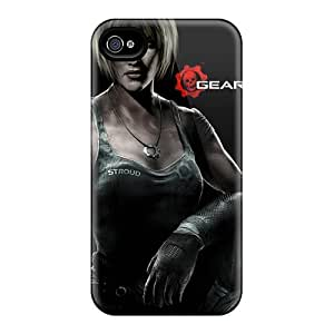 Great Hard Phone Cover For Iphone 4/4s With Custom High Resolution Gears Of War 3 Image KennethKaczmarek