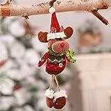 Hanging leg old man snowman fabric doll Christmas decorations