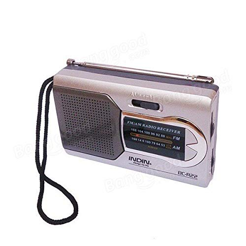 Media Players Speakers & Radios - Indin BC-R22 Slim AM/FM Mini Portable World Receiver Stereo Speakers Music Player - 1x Indin BC-R22 Radio window.BWEUM||(BWEUM={