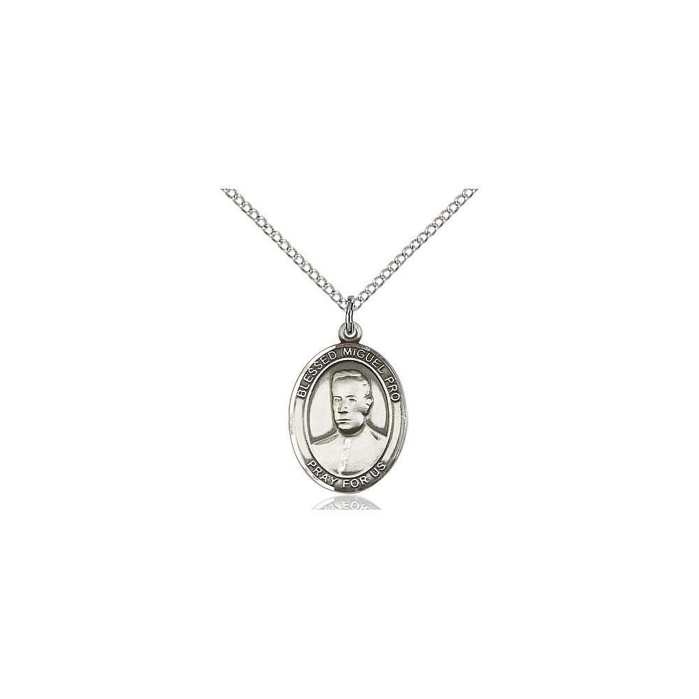 DiamondJewelryNY Sterling Silver Blessed Miguel Pro Pendant