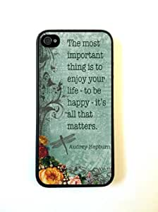 Case For Iphone 6 4.7 Inch Cover ThinShell Case Protective Case For Iphone 6 4.7 Inch Cover AUdrey Hepburn Quote ENjoy Life Vintage