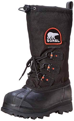 Sorel Women's Glacier XT Boot,Black/Red Quartz,10 M US]()
