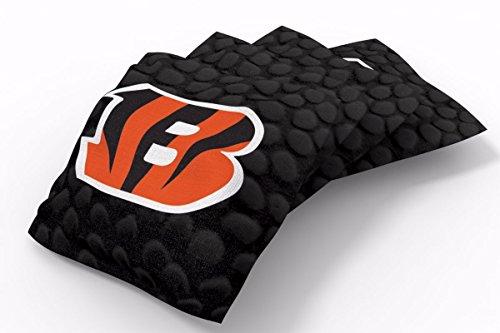 PROLINE 6x6 NFL Cincinnati Bengals Cornhole Bean Bags - Pigskin Design (Cornhole Bags Cincinnati)