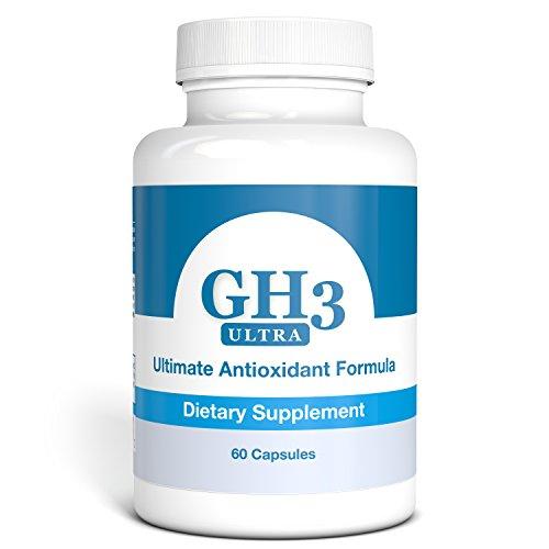 - G-H3 ULTRA, Ultimate Antioxidant Formula - NEW, IMPROVED Anti-Aging Complex (Ginkgo Biloba, R-Alpha Lipoic Acid, Coenzyme Q10, Acetyl L-Carnitine, Vitamin B6) - 60 Caps