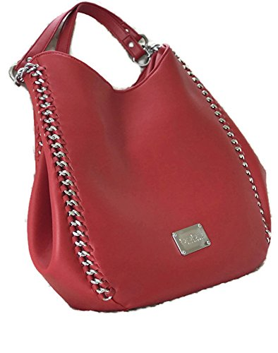 Bebe Triple Handbag Tote Colette Entry Hobo Red rfrq8