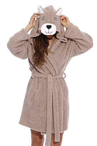 6318-Bear-XL Just Love Critter Robe / Robes for Women, Teddy Bear (Sherpa), (Lady Teddy Bear)