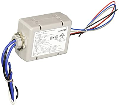 Leviton OPP20-RD3 20-Amp Super Duty Power Pack for Occupancy Sensors, Basic with Auto-On and Photocell Input, Gray