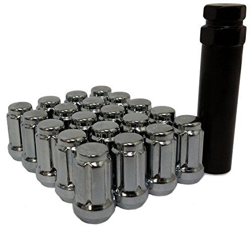 20X 6 SPLINE LOCKING SECURITY LUG NUTS | 12X1.25 | FITS ALL NISSAN CAR STUDS