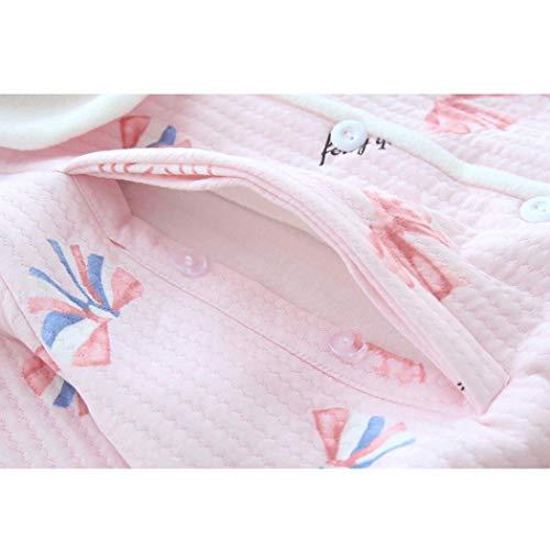 Para Nuevos Tamaño Las color Metro Pink Impresión Embarazadas Solapas De Botón Pijamas Azul Mujeres Posparto Blancas Conjunto Huifang EqwdU1E