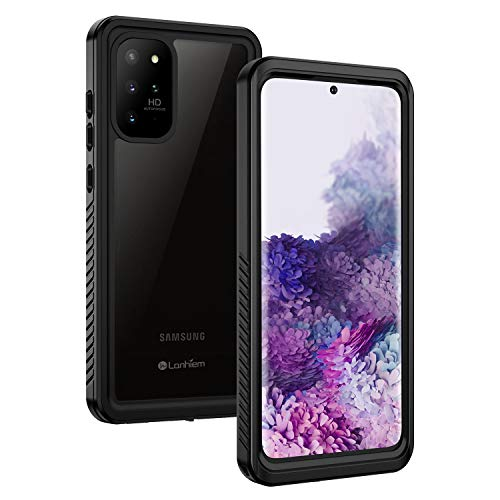 Lanhiem Galaxy S20+ Plus Case, Built-in Screen Protector with Fingerprint Film Waterproof Dustproof Case, Full Body Heavy Duty Shockproof Protective Cover for Samsung S20 Plus 5G 6.7 Inch (Black)