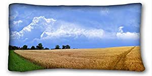 Custom Nature Custom Cotton & Polyester Soft Rectangle Pillow Case Cover 20x36 inches (One Side) suitable for X-Long Twin-bed