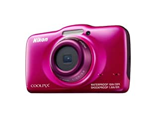 """Nikon Coolpix S32 - Cámara de fotos subacuática de 13.2 Mp (Pantalla de 2.7"""", zoom óptico 3x, vídeo Full HD), rosa"""