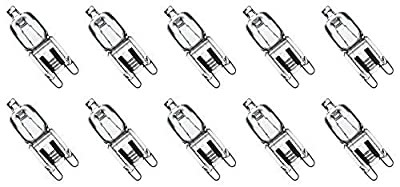 12Vmonster ® * 10 Pack * CLEAR LENSE G9 25W 120 volt halogen light bulbs JCD type 110v 130v lamp 25w t4 g9 120V LONG LIFETIME