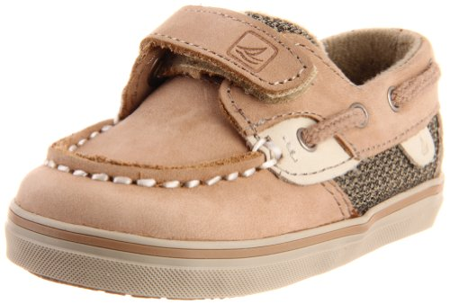 Toddler Top Sperry (Sperry Bluefish Hook & Loop Boat Shoe (Infant/Toddler/Little Kid),Linen/Oat,3 M US Infant)