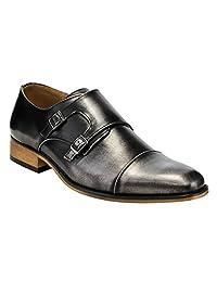 Beston EA28 Men's Double Monk Strap Slip On Dress Shoes Run Half Size Bigger