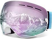 Juli Ski Goggles,Winter Snow Sports Snowboard Goggles Men Women & Youth Snowmobile Skiing Skating