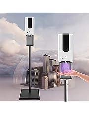 KKTECT Automatisch desinfectiemiddeldispenser voor handen en desinfectiemiddel, 1200 ml desinfectiedispenser, sensor + desinfectiezuil, hygiënestation voor winkels, hotels - draagbaar en stabiel