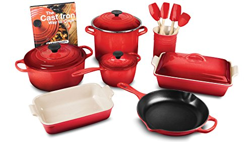 Le Creuset Utensil Crock (Le Creuset 16-piece Cookware Set (Cherry Red))