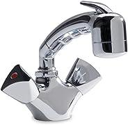 Ambassador Marine Trinidad- Head/Shower Combo Faucet (Small Chrome Sprayer - No Hook, 6-Feet Black Rubber Hose