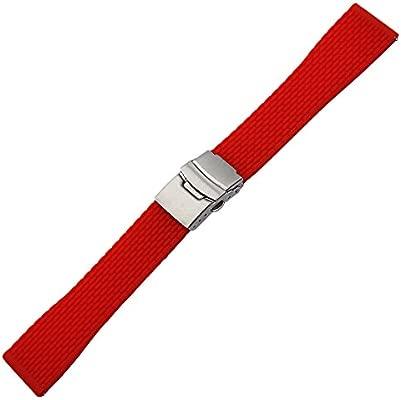 Amazon.com: trumirr 24 mm hule De Silicona Watch Band Sports ...