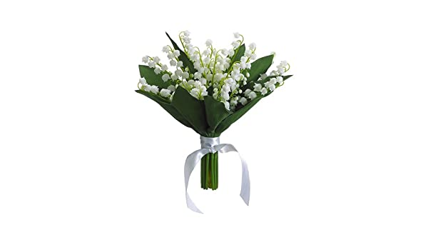 Amazoncom 10lily Of The Valley Bouquet Cream Pack Of 6 Home