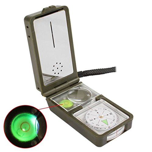 Compass 10in1 Multifunction Outdoor Camping Hiking Survival Tool Compass Kit.