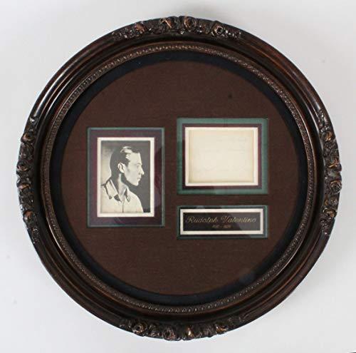 Rudolph Valentino Signed Album Page Display – COA JSA from Memorabilia.Expert
