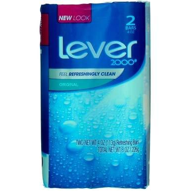 (Lever 2000 Original Refreshing Bar Soap, 4.5 oz bars, 2 ea (Pack of 5))