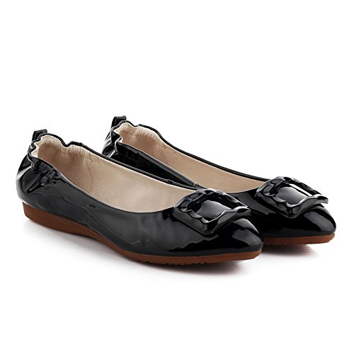 Uppers Womens Flats 1TO9 Patent Low Leather Ballet MMS03096 Cut Black Wedges TgWwxOqF