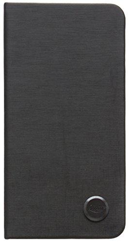 QIOTTI Q. Book Slim Premium Eco Étui Livret en cuir synthétique pour iPhone 6/6S–Alu Noir