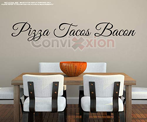 Pizza Tacos Bacon Wall Decal | Live Laugh Love Spoof | Large 40