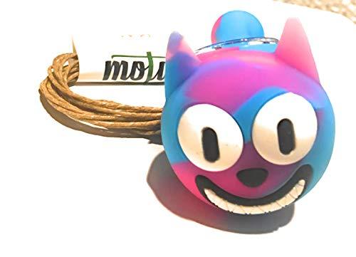 Motaa Silicon Food Grade Durable Straw Pipe Design with 10ft of Motaa Hemp Wick (Multi Hat Cat)