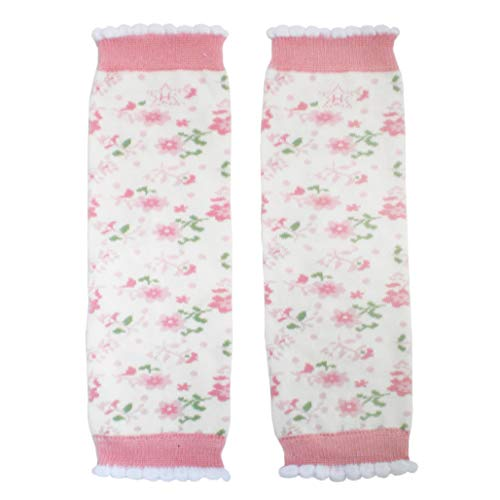 Huggalugs Sale Toddler Girls Feminine Flower Print Leg Warmers in Various Designs (Regular-fits 6 months to 8 years, Enchanted)
