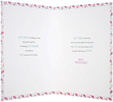 Hallmark - Tarjeta de 50º aniversario de boda