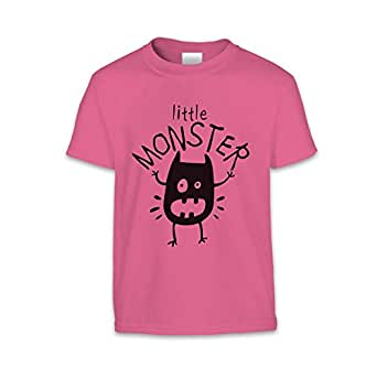 The T-Shirt Factory Childrens/Kids Little Monster T-Shirt (UK Size: 3-4 Years) (Pink)