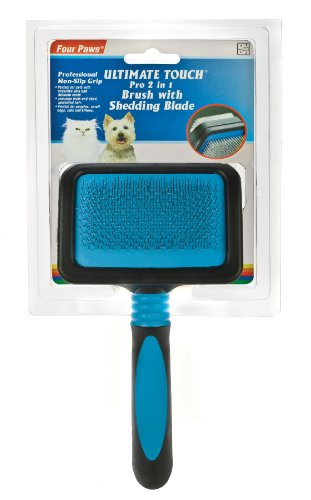 Ultimate Touch Pro 2 in 1 Slicker with Shed N Blade, Small, My Pet Supplies