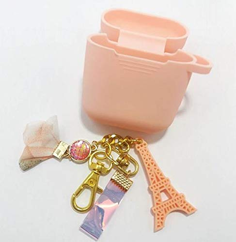 Price comparison product image AtelierSeoul Paris Handmade Keyring with Pink Airpods Case / Keychain / Charm for AirPods,  Galaxybuds,  Handbag,  Tote,  Purse,  Backpack,  Bag Anything (Paris)